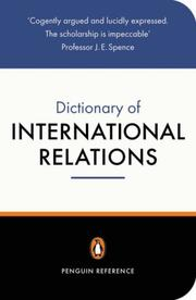 Cover of: The Penguin dictionary of international relations