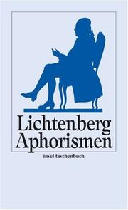 Cover of: Aphorismen.