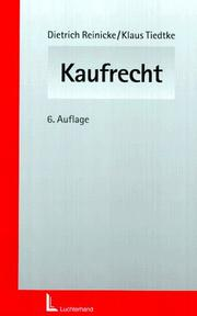 Cover of: Kaufrecht.
