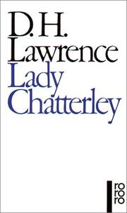 Cover of: Lady Chatterley