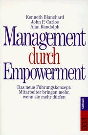 Cover of: Management durch Empowerment.