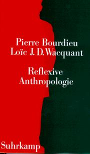 Cover of: Reflexive Anthropologie.