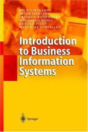 Cover of: Introduction to Business Information Systems