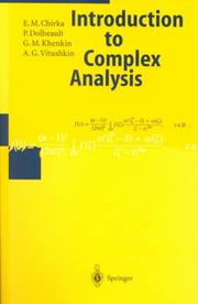 Cover of: Introduction to Complex Analysis