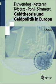 Cover of: Geldtheorie und Geldpolitik in Europa