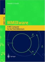 Cover of: MMIXware: A RISC Computer for the Third Millennium