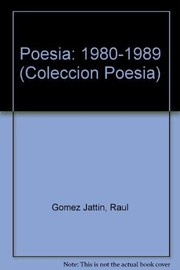 Cover of: Poesía