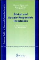 Cover of: Ethical and Socially Responsible Investment (Resource Guides to Business Information Sources)