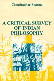 Cover of: A Critical Survey of Indian Philosophy
