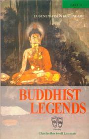 Cover of: Buddhist Legends, Part I, II and III