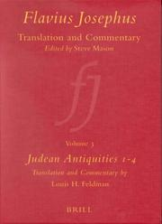 Cover of: Flavius Josephus, translation and commentary