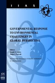 Cover of: Governmental response to environmental challenges in global perspective
