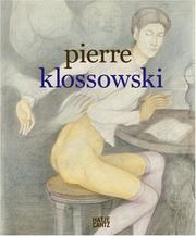 Cover of: Pierre Klossowski