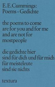 Cover of: Poems. Gedichte.