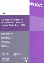 Cover of: European Sourcebook of Crime and Criminal Justice Statistics - 2006 (Onderzoek En Beleid)