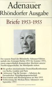 Cover of: Briefe, 1953-1955