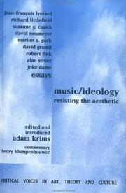 Cover of: Music/ideology