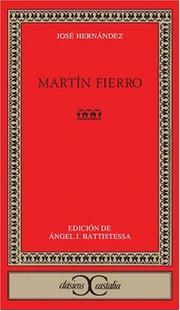 Cover of: Martin Fierro (Clasicos Castalia)