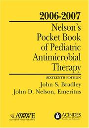 Cover of: Nelson's Pocket Book of Pediatric Antimicrobial Therapy, 2006-2007 Latest Edition!