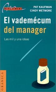 Cover of: El Vademecum Del Manager