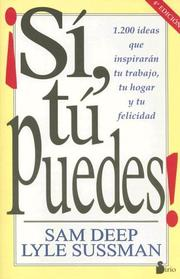 Cover of: Sí, tú puedes!