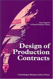 Cover of: Design of Production Contracts