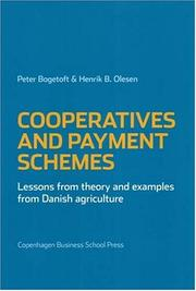 Cover of: Cooperatives and Payment Schemes