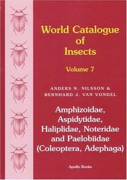 Cover of: World Catalogue of Insects