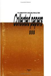 Cover of: Collected Papers, Vol. III