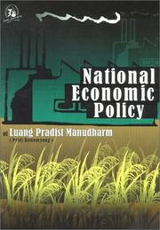 Cover of: National Economic Policy