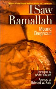 Cover of: I SAW RAMALLAH (H) (Modern Arabic Writing)