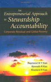 Cover of: An Entrepreneurial Approach To Stewardship Accountability