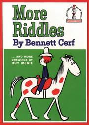 Cover of: More riddles