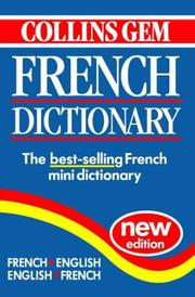 Cover of: Collins Gem French Dictionary