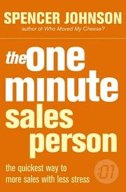 Cover of: One Minute Manager Salesperson (One Minute Manager)