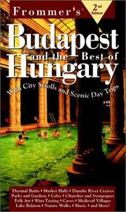 Cover of: Frommer's Budapest and the Best of Hungary