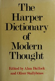Cover of: Harper Dictionary of Modern Thought