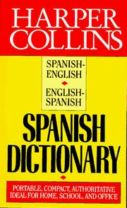 Cover of: Harper Collins Spanish Dictionary