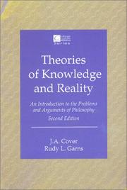 Cover of: Theories of Knowledge and Reality