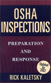 Cover of: OSHA Inspections