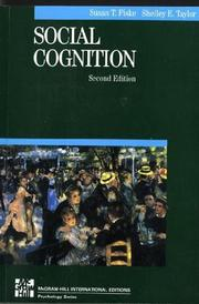 Cover of: Social Cognition (McGraw-Hill Series in Social Psychology)