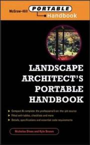 Cover of: Landscape Architect's Portable Handbook