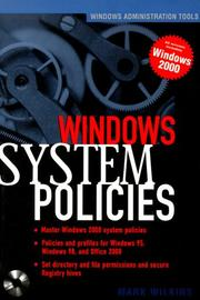 Cover of: Windows 2000 System Policies (Book/CD-ROM package)