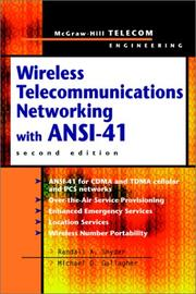 Cover of: Wireless Telecommunications Networking with ANSI-41