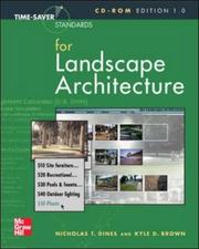 Cover of: Time-Saver Standards  for Landscape Architecture CD-ROM