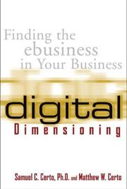 Cover of: Digital dimensioning : finding the ebusiness in your business