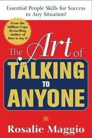 Cover of: The Art of Talking to Anyone: Essential People Skills for Success in Any Situation