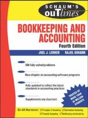 Cover of: Schaum's outline of theory and problems of  bookkeeping and accouting