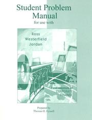 Cover of: Student problem manual for use with Fundamentals of Corporate finance, sixth edition, Stephen A. Ross, Randolph W. Westerfield, Bradford D. Jordan