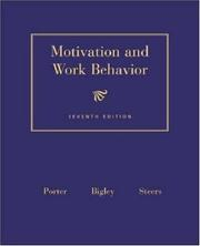 Cover of: Motivation and Work Behavior